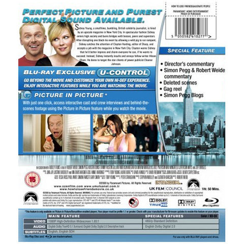HOW TO LOSE FRIENDS AND ALIENATE PEOPLE blu-ray back cover