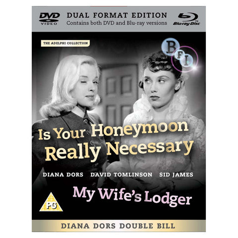 IS YOUR HONEYMOON REALLY NECESSARY / MY WIFE'S LODGER blu-ray front cover