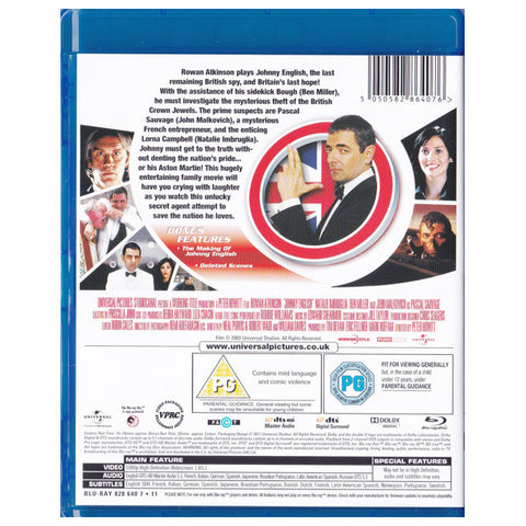 JOHNNY ENGLISH blu-ray back cover