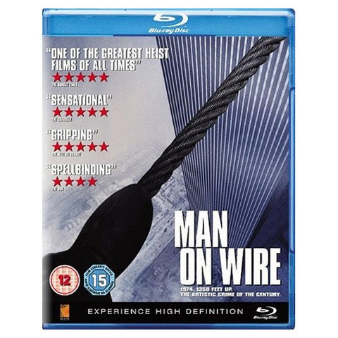 MAN ON WIRE blu-ray front cover