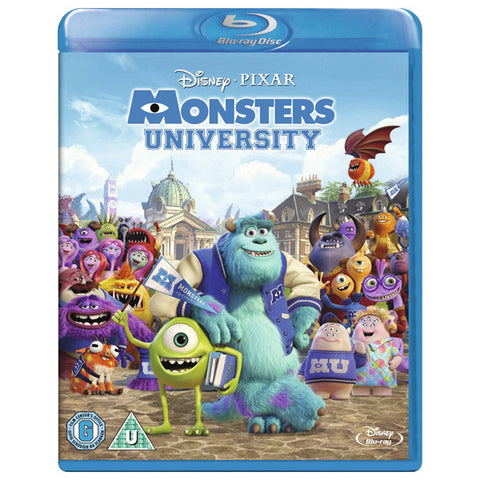 Monsters University blu-ray front cover