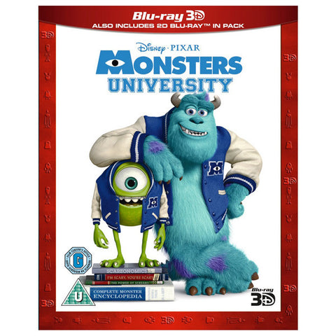 Monsters University 3D blu-ray front cover