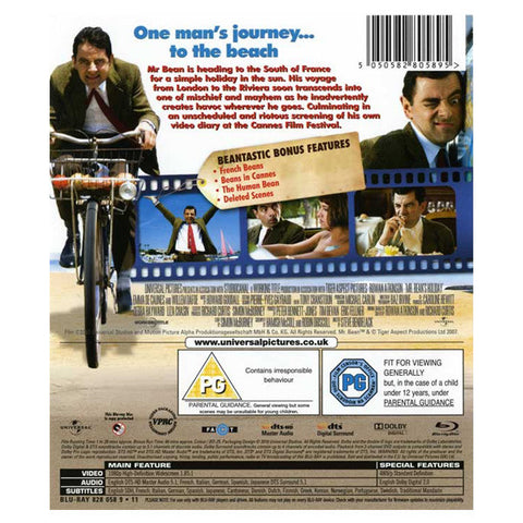 MR. BEAN HOLIDAY blu-ray back cover