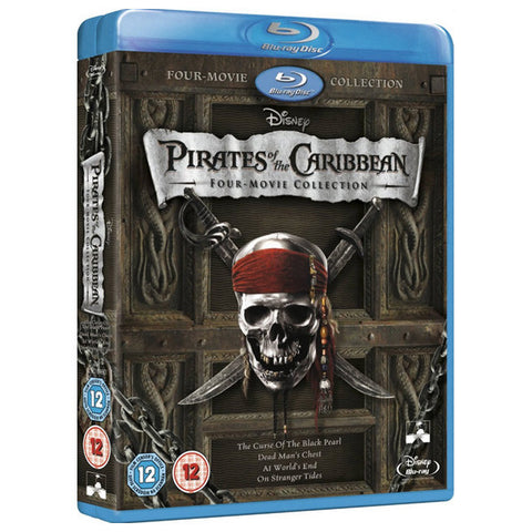 PIRATES OF THE CARIBBEAN 1-4 blu-ray front cover