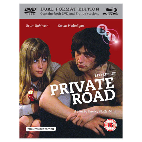 PRIVATE ROAD blu-ray front cover