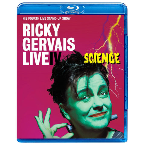 RICKY GERVAIS LIVE IV:SCIENCE blu-ray front cover