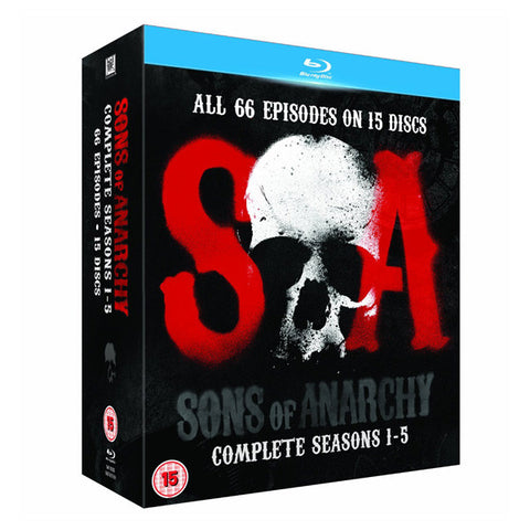 SONS OF ANARCHY: SEASONS 1-5 blu-ray front cover