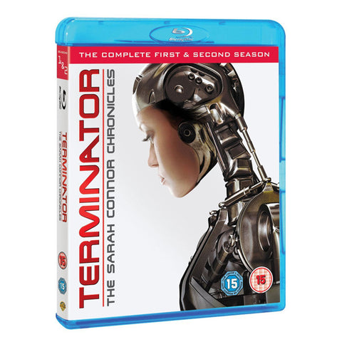 TERMINATOR: THE SARAH CONNOR CHRONICLES - SERIES 1-2 blu-ray front cover