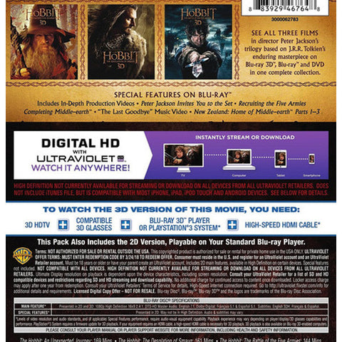THEHOBBIT3DMOTIONPICTURETRILOGY blu ray back cover