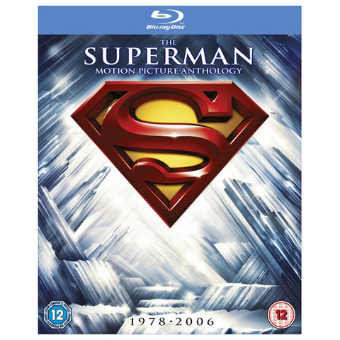 he Superman Motion Picture Anthology blu-ray front cover