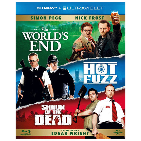 The Three Flavours Cornetto Trilogy blu-ray front cover