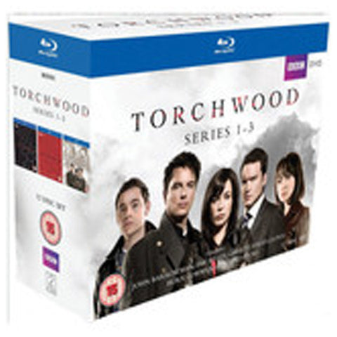 TORCHWOOD: THE COLLECTION SERIES 1-3 blu-ray front cover