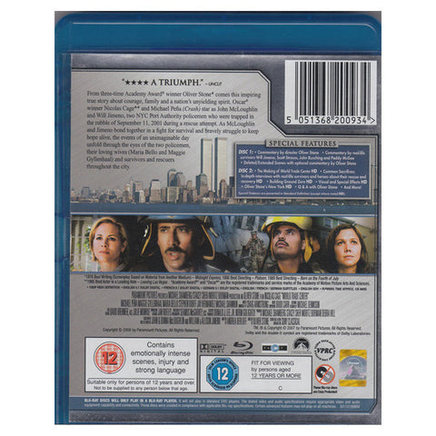 WORLD TRADE CENTER blu-ray back cover