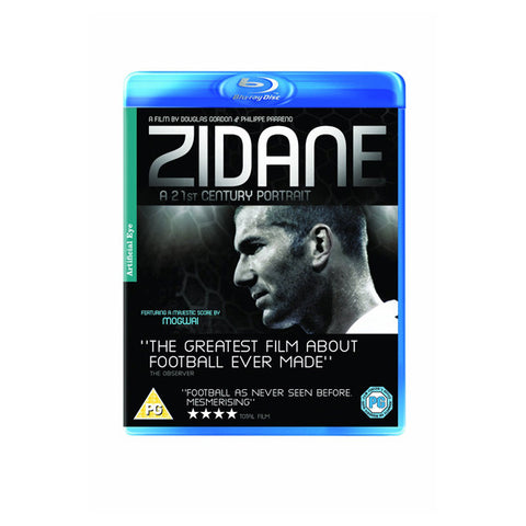 ZIDANE: A 21ST CENTURY PORTRAIT blu-ray front cover