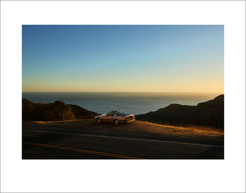 """Roger on a Cliff in Malibu (85 Nissan 300ZX)"" by Ryan Handt"