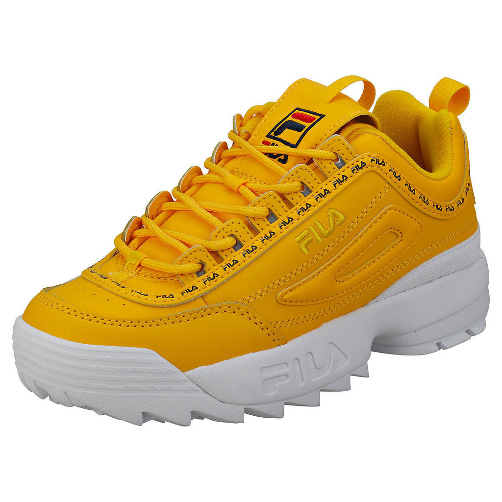 Fila Disruptor 2 Premium Repeat Womens Yellow Leather & Synthetic ...