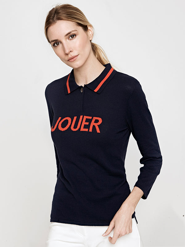 Intarsia Jouer 3/4 Sleeve Sweater