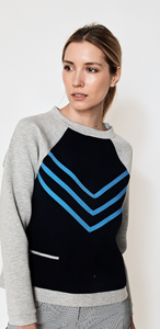 Impact 2 Sweatshirt- Navy with Teal