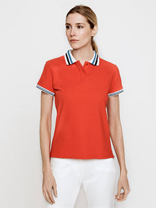 Phoenix Short Sleeve Performance Pique Polo- Poppy