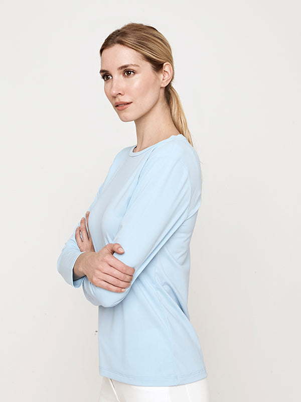 Swim and Sun Performance Shirt- Sky Blue