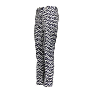 Tuxedo Pant- Navy/Silver Houndstooth