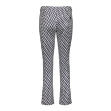 Load image into Gallery viewer, Tuxedo Pant- Navy/Silver Houndstooth