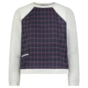 Impact 2 Sweatshirt- Navy Plaid
