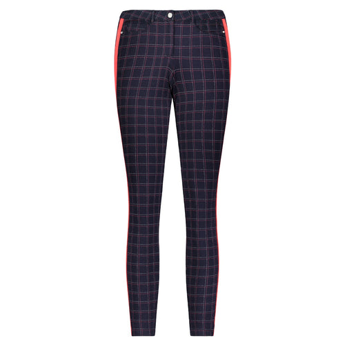 Eliza Pant- Navy Plaid