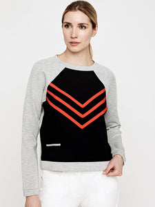 Impact 2 Sweatshirt- Black with Poppy