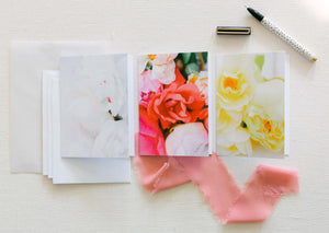 Spring Peony Colorway - Blank Notecards - Set of 3