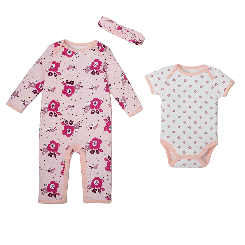 3 Pc Footed Coverall Set