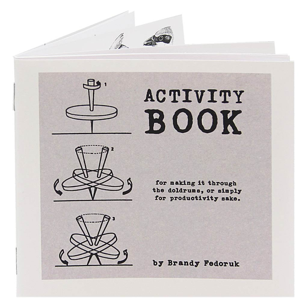 This Activity Book is designed to keep your mind and hands occupied. It feels good to fill out forms and finish sentences and can help you make it through the doldrums or simply benefit your overall sense of productivity.