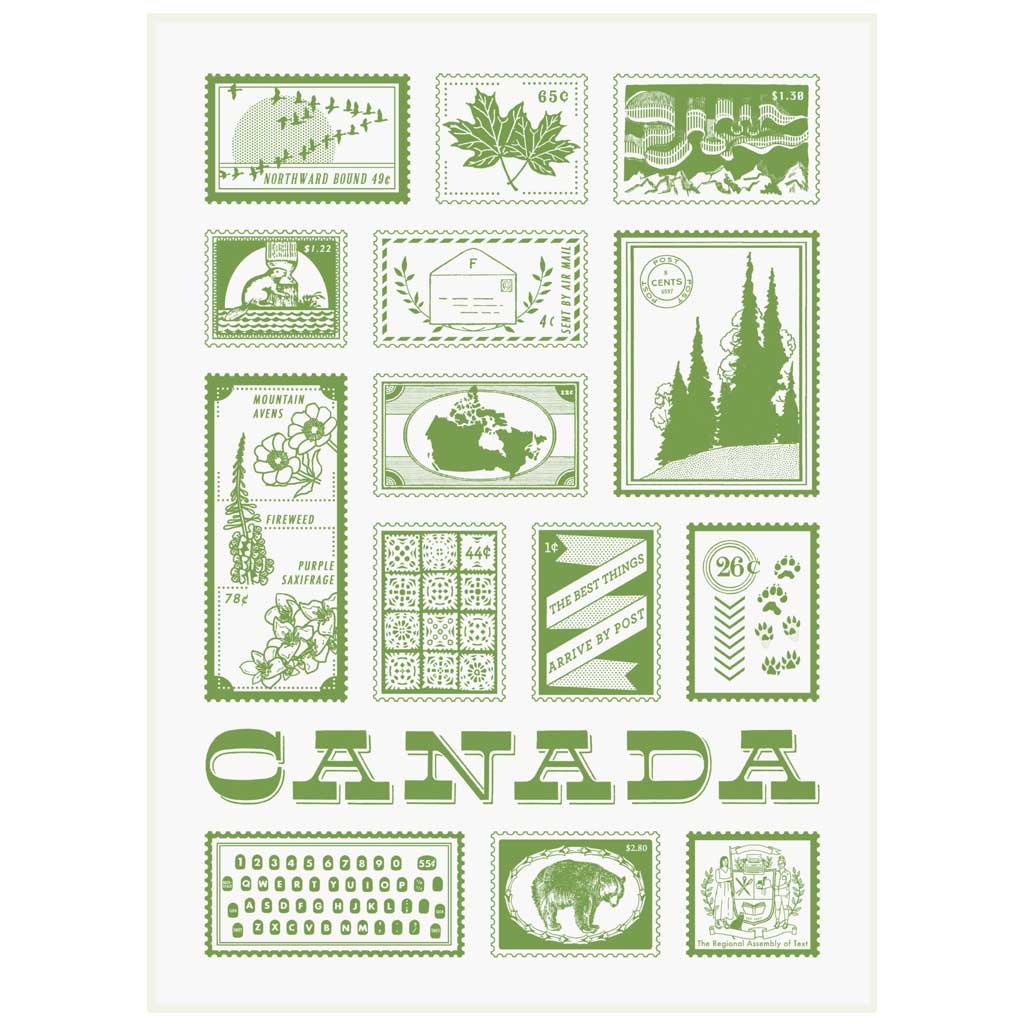 "This tea towel is perfect for locals and tourists alike. Features a map of Canada and interesting facts for each province and territory. It is made of unbleached cotton and measures 18"" x 29""."