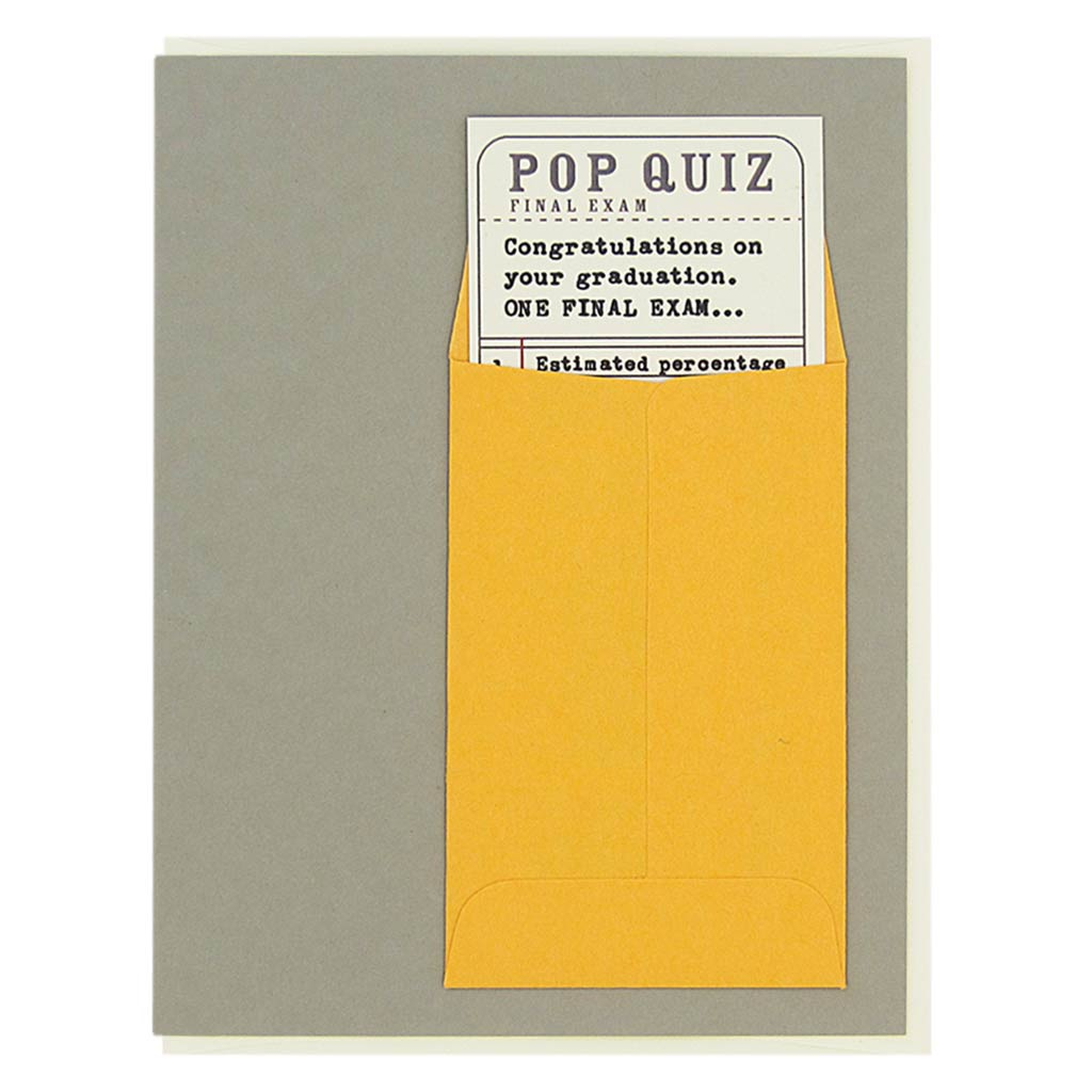 Graduation Pop Quiz