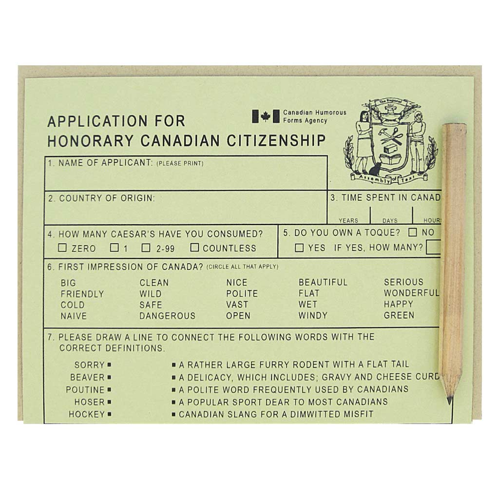 Application for Honorary Citizenship