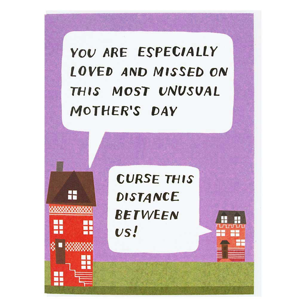 "From your home to hers... Happy Mother's Day greetings. Measures 4¼"" x 5½"", comes with a white envelope & is blank inside."