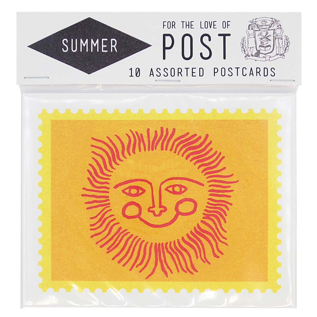 "Celebrate those rays of sunshine. This seasonal pack contains 10 summer inspired postcards, 2 of each design. Postcards measure 4 ¼"" x 5 ½""."
