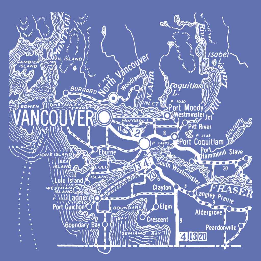 Map of Vancouver - Men's
