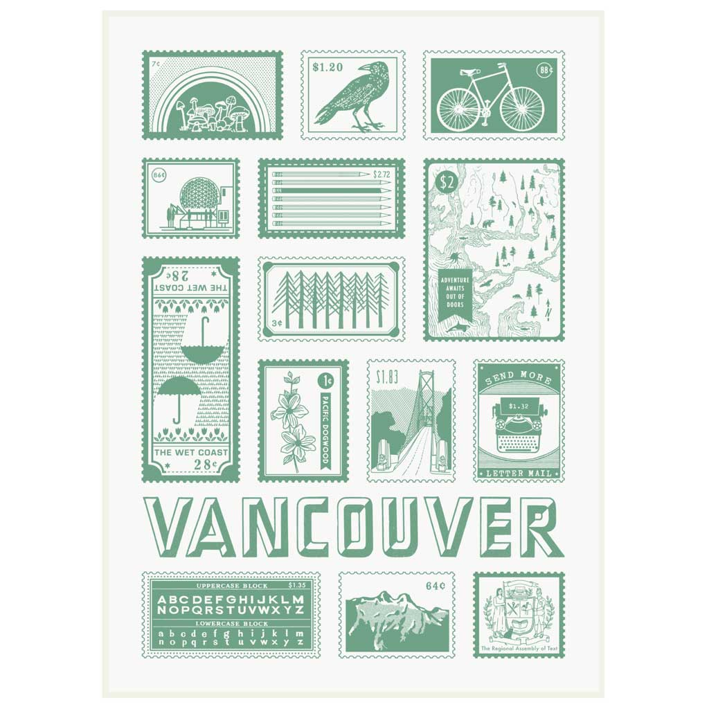 "This tea towel is perfect for locals and tourists alike. Features a map of Vancouver British Columbia, Canada It is made of unbleached cotton and measures 18"" x 29""."