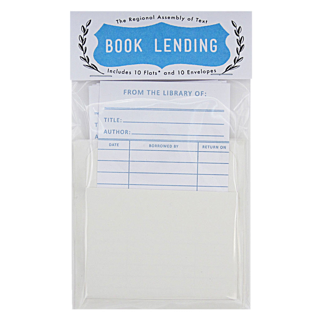 "Lend out your books with confidence. This set includes 10 identical vintage looking library cards & 10 sticky pockets and measures 3¾"" x 5"". (Note: these are single sided cards)"