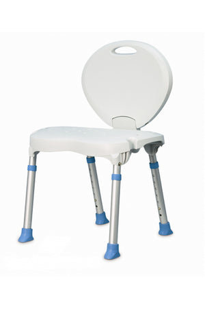 AquaSense Folding Bath/Shower Seat with Backrest (113kg)