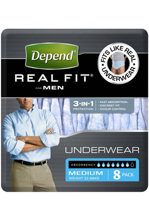 Depend® Real-Fit Underwear For Men (8 pack)