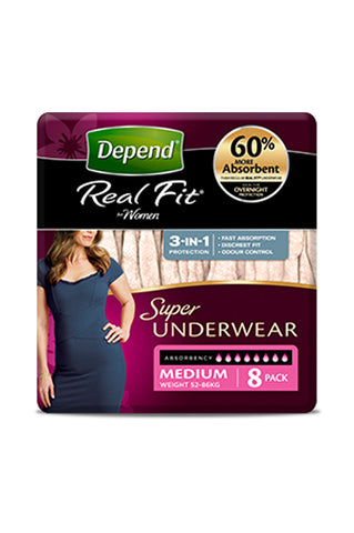 Depend® Real-Fit Underwear Super for Women (8 pack)