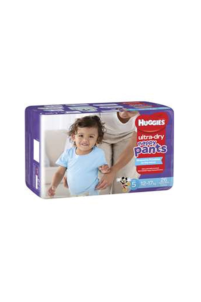 Huggies Ultra Dry Nappy Pants Size 5 (12-17kg) Boy (26pk)