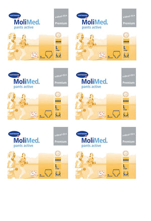 MoliMed Pants Active - Large (10 pack | Bulk Buy $11.66 x 6)