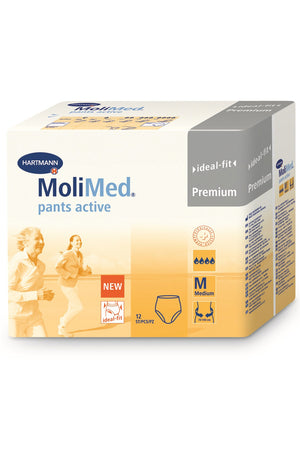 MoliMed Pants Active - Medium (12 pack | Bulk Buy 14:16 x 6)