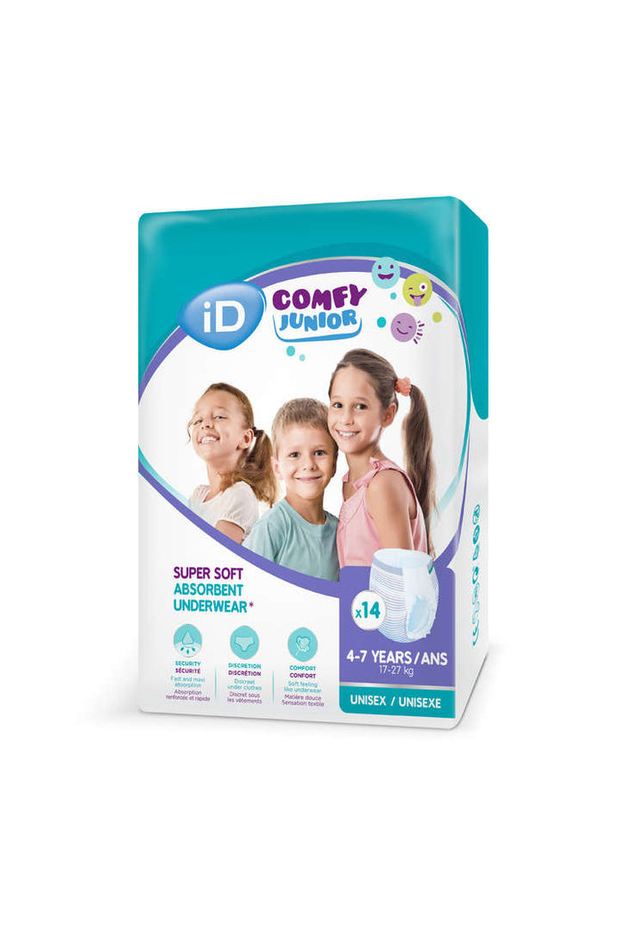 Ontex iD Comfy Junior Pants (4-7 years) 17-27kg (14pk)