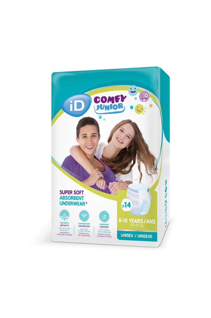 Ontex iD Comfy Junior Pants (8-15 years) 24-47kg (14pk)
