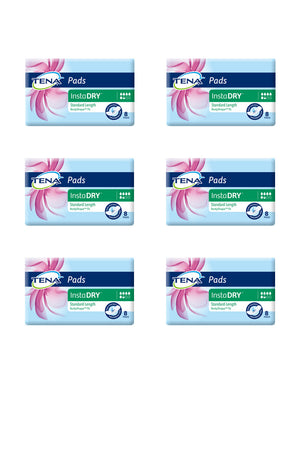 Tena Pads with InstaDry™ - Standard Length (8 pack | Bulk Buy $4.75 x 6)