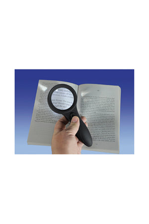 Aidapt Deluxe Comfort Grip Magnifier with 6 LED Lights